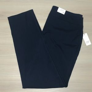 Crown & Ivy Navy essentials pull on pant, size 12